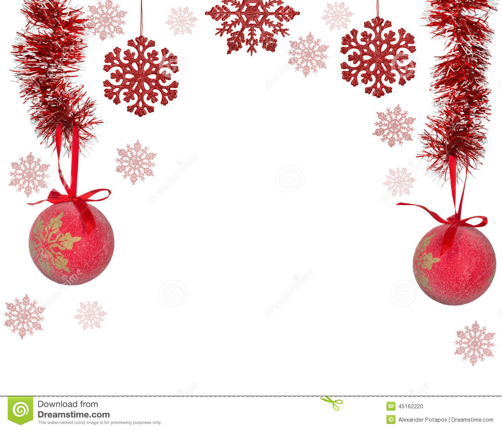 Decoration Noel Rouge Blanc Cercle