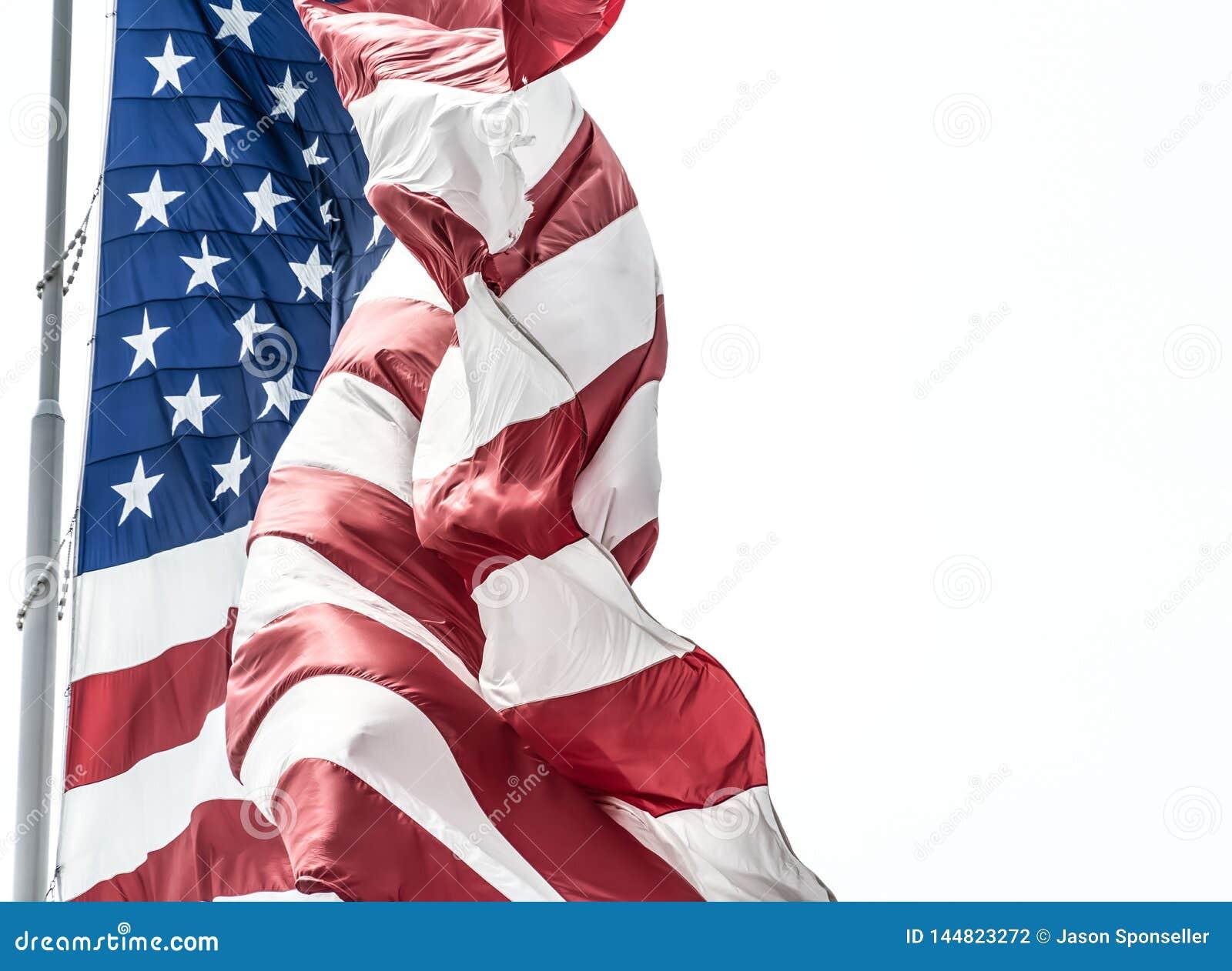 Democracia de representação branca e azul vermelha