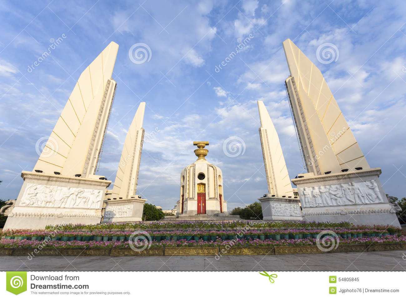 The Democracy Monument In Bangkok Stock Photo - Image ...