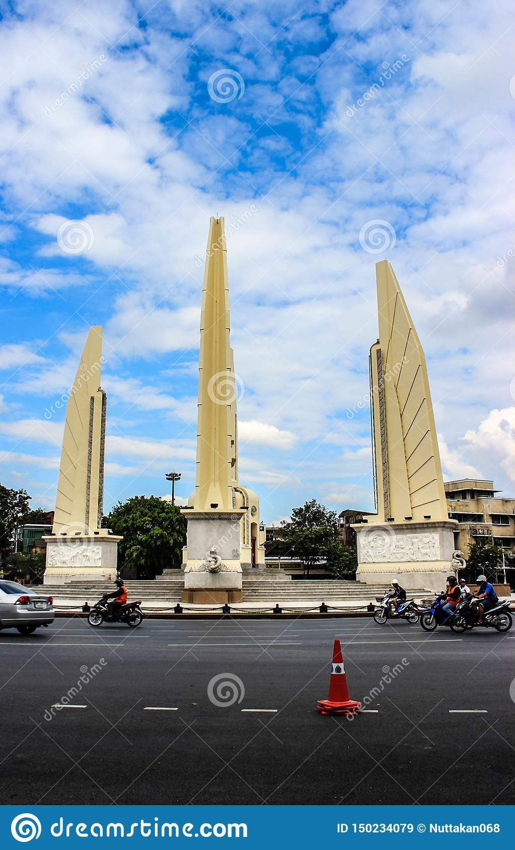 Democracy monuments in Thailand.