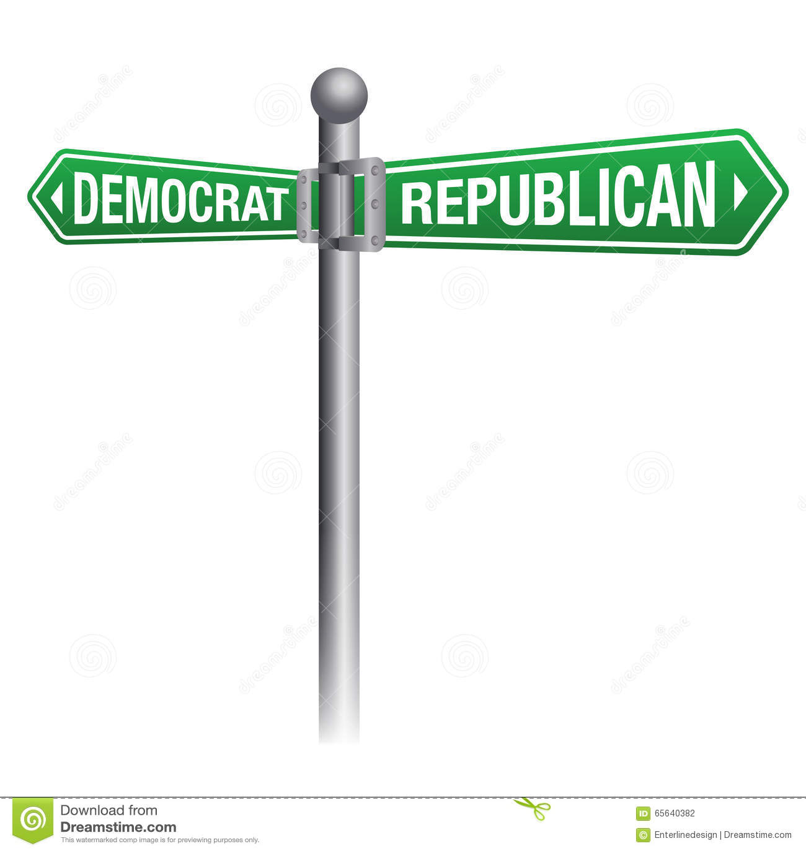 Democrate contre le thème républicain