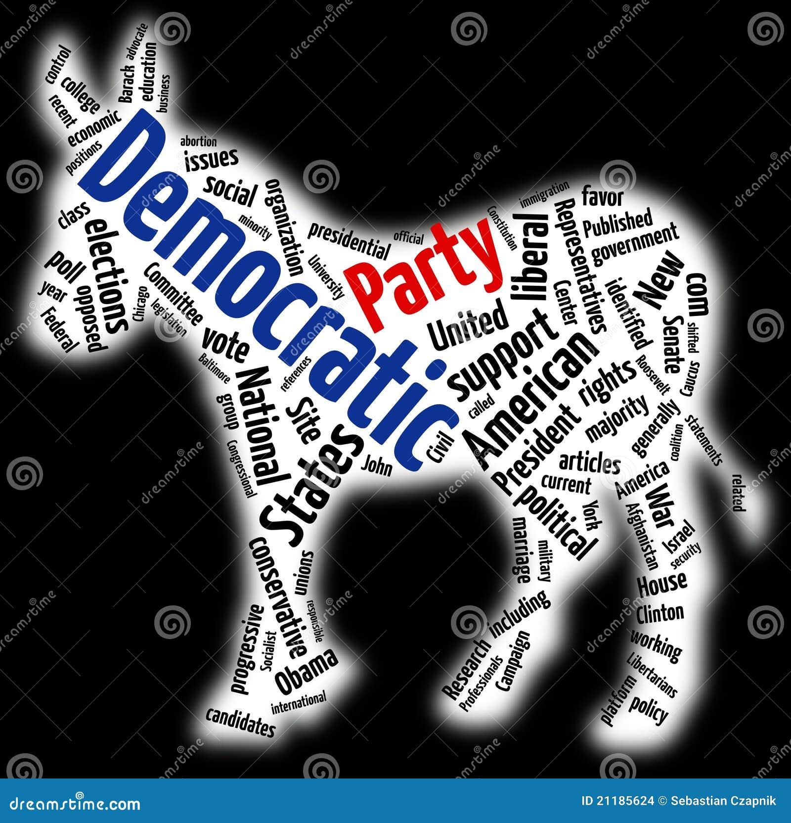 Democratische het woordwolk van de Partij