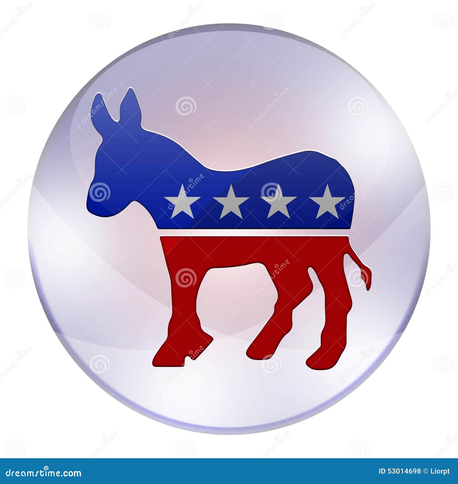 Democrats elections button