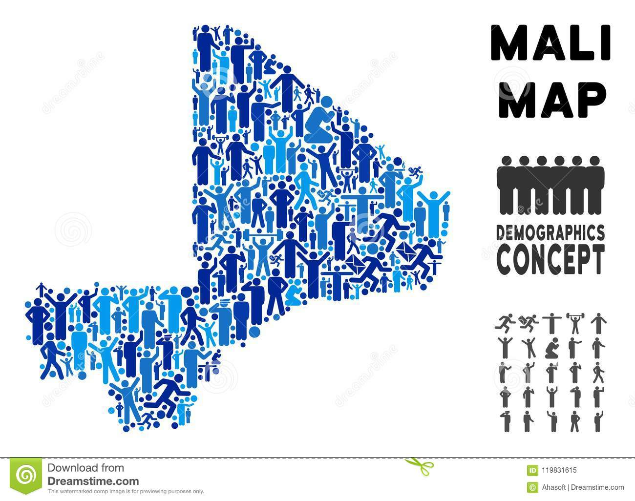 Demographics Mali Map