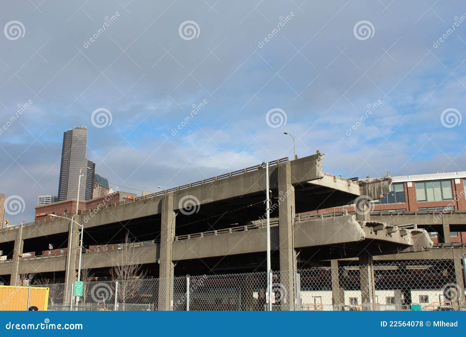 Demolition of the Alaskan Way Viaduct