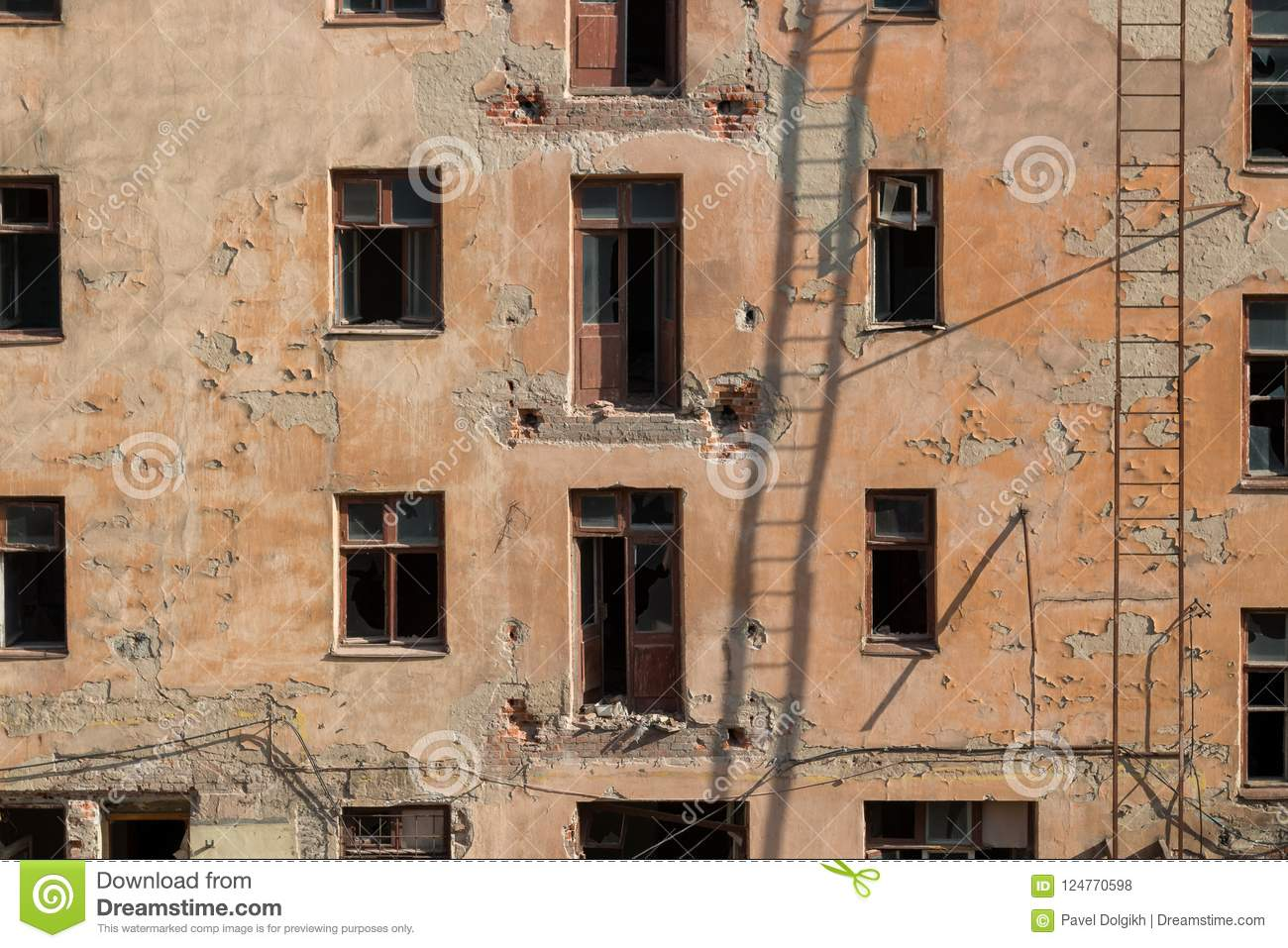 Demolition of an apartment house
