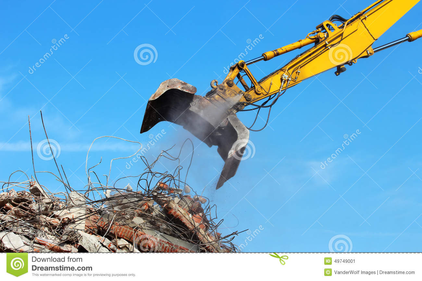 Building Demolition Cartoon : Demolition royalty free stock image cartoondealer