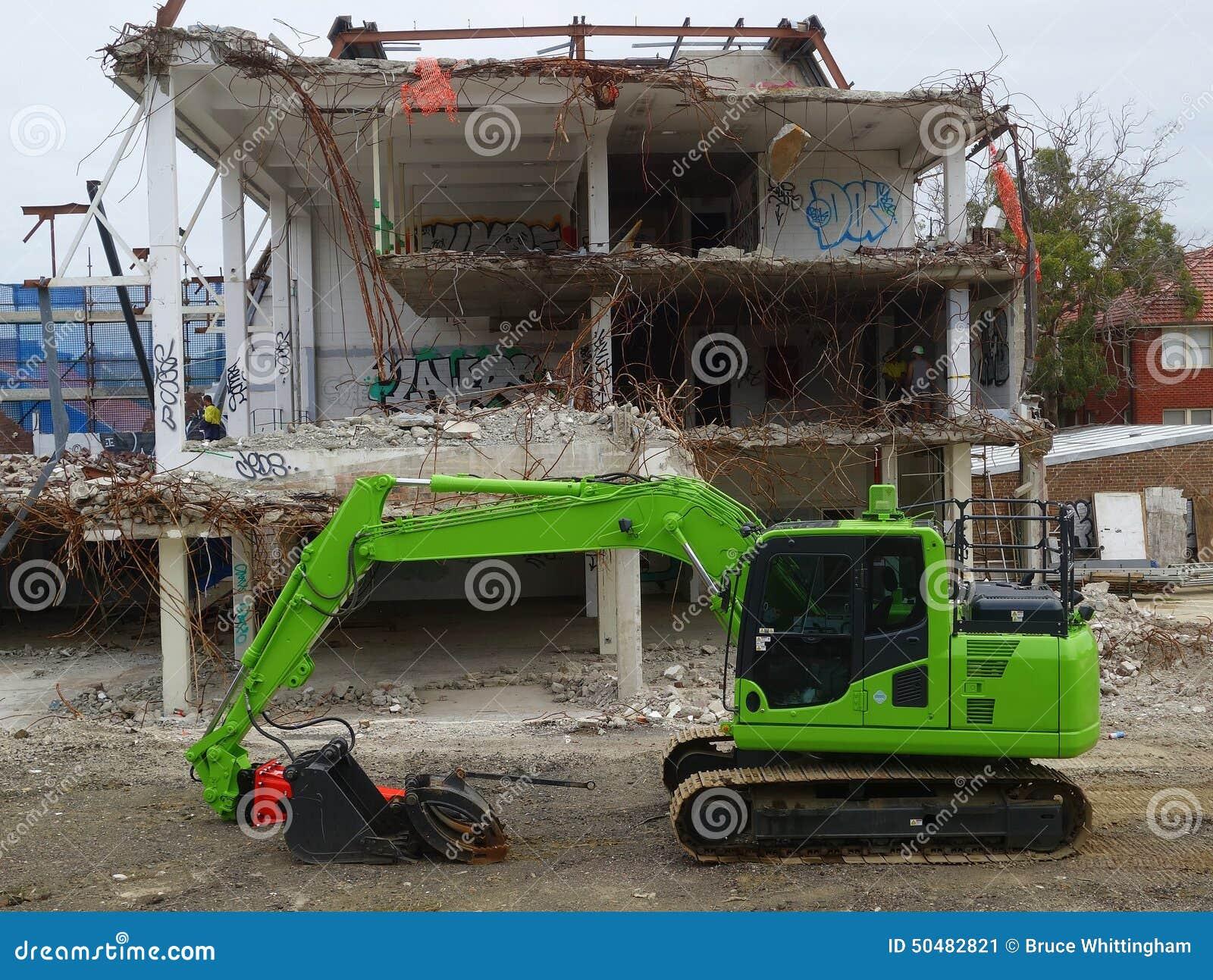 building demolition machine
