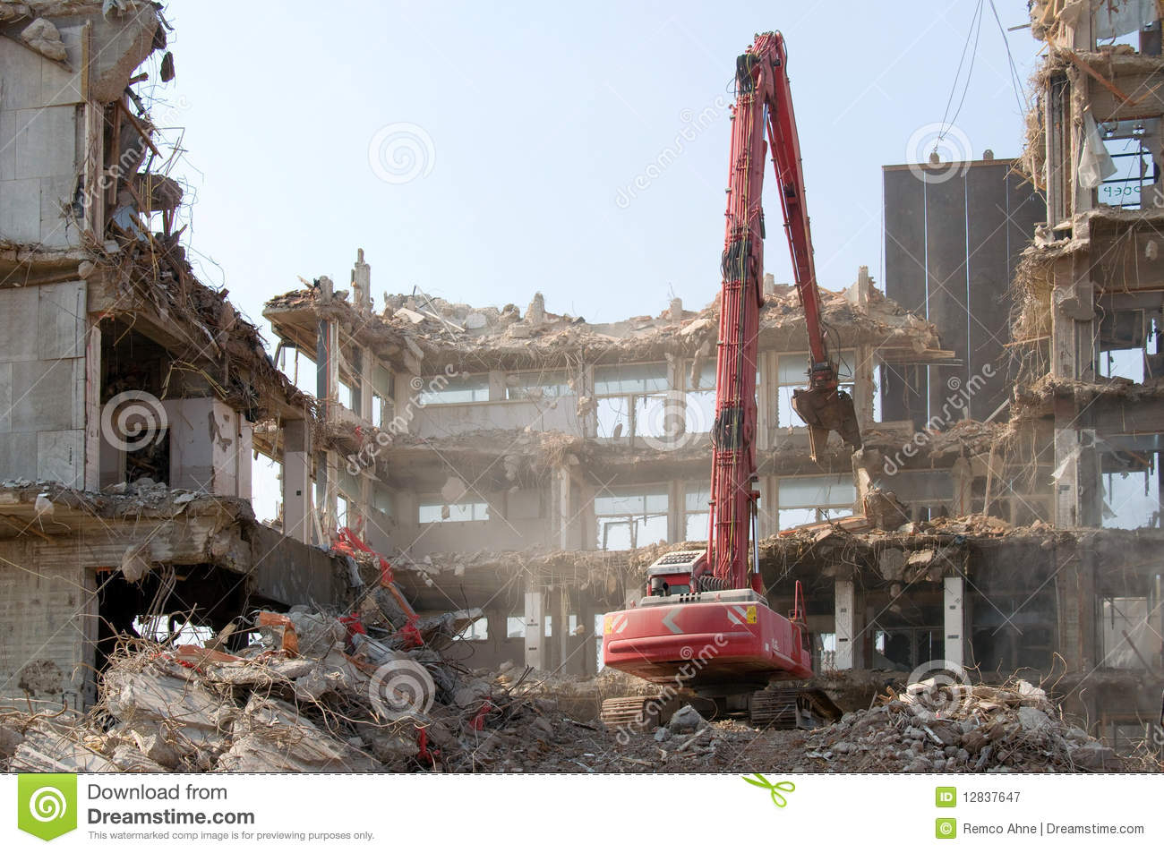 Demolition Works Royalty Free Stock Photography Image 12837647