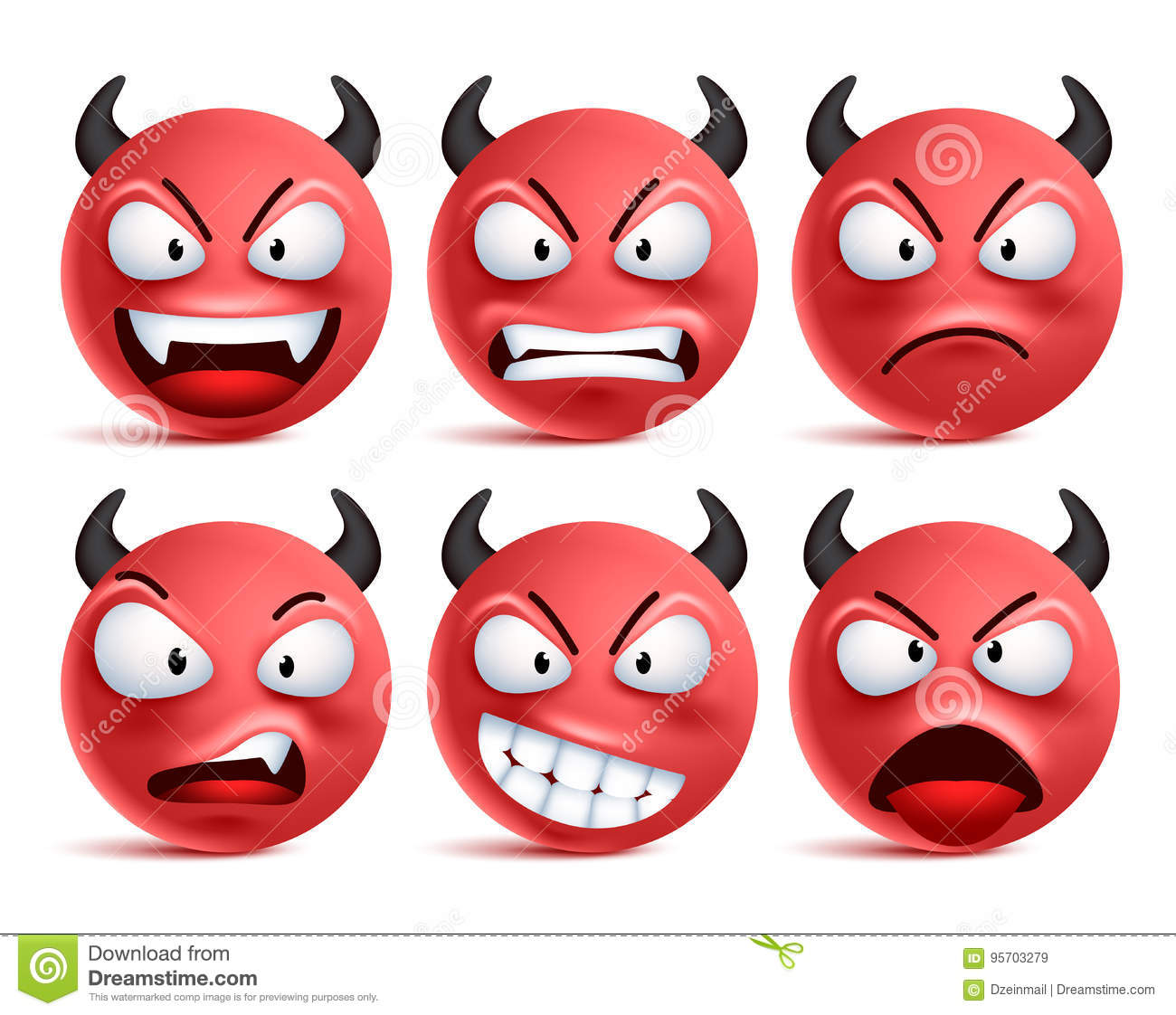 Facial cartoons illustrations vector stock images 53116 pictures to download from - Emoticon diable ...