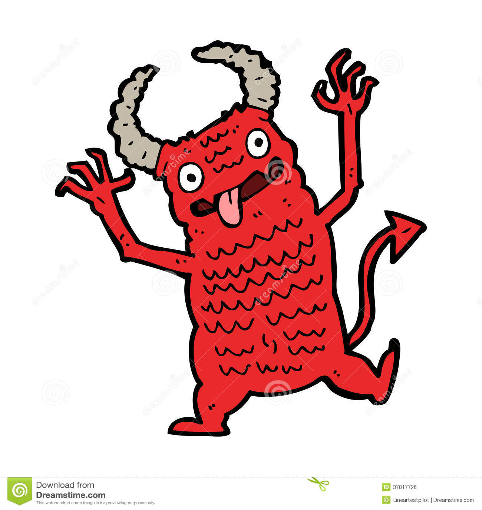 Demone Del Fumetto Illustrazione Vettoriale Illustrazione Di
