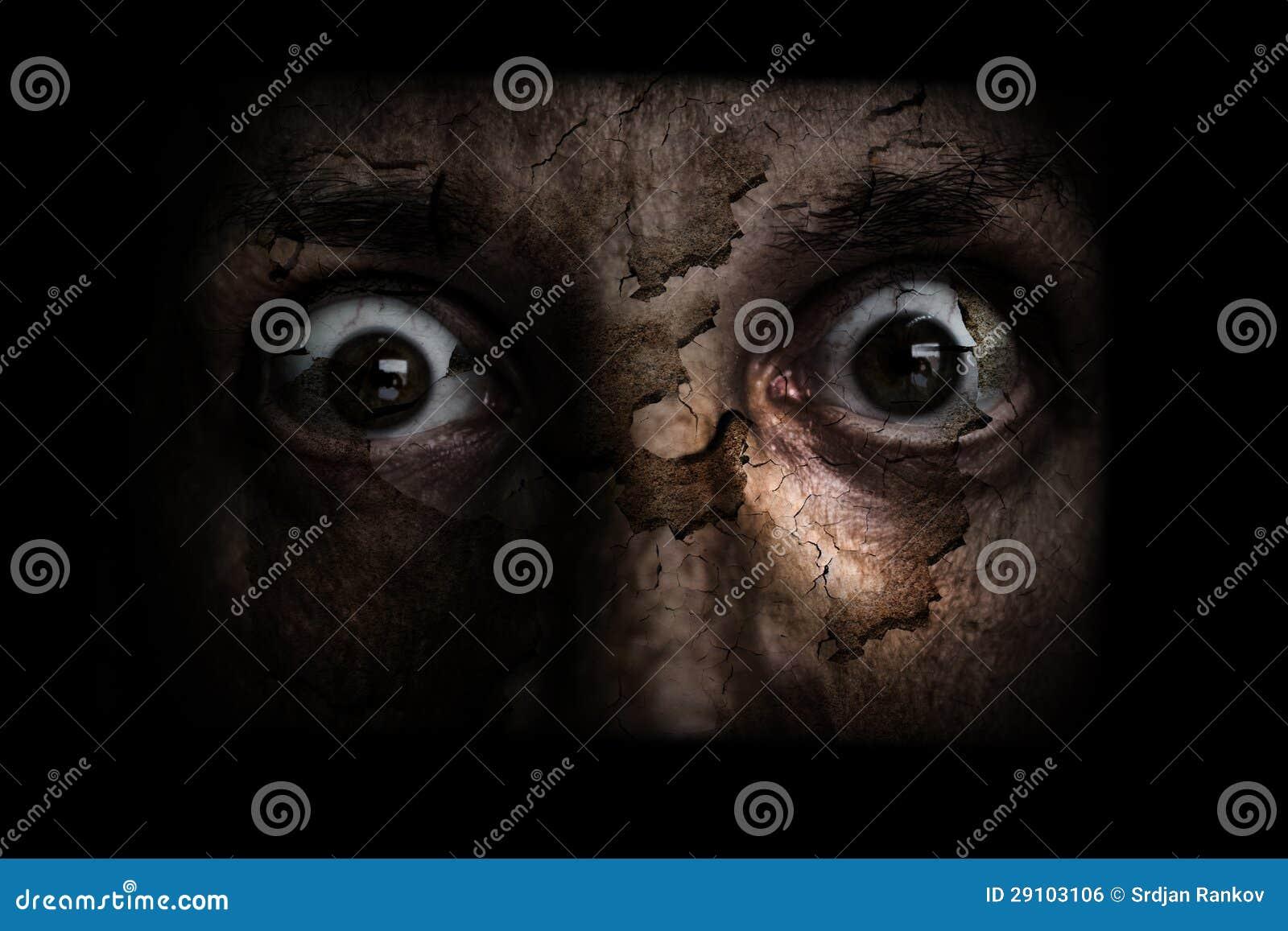 Demonic ugly face