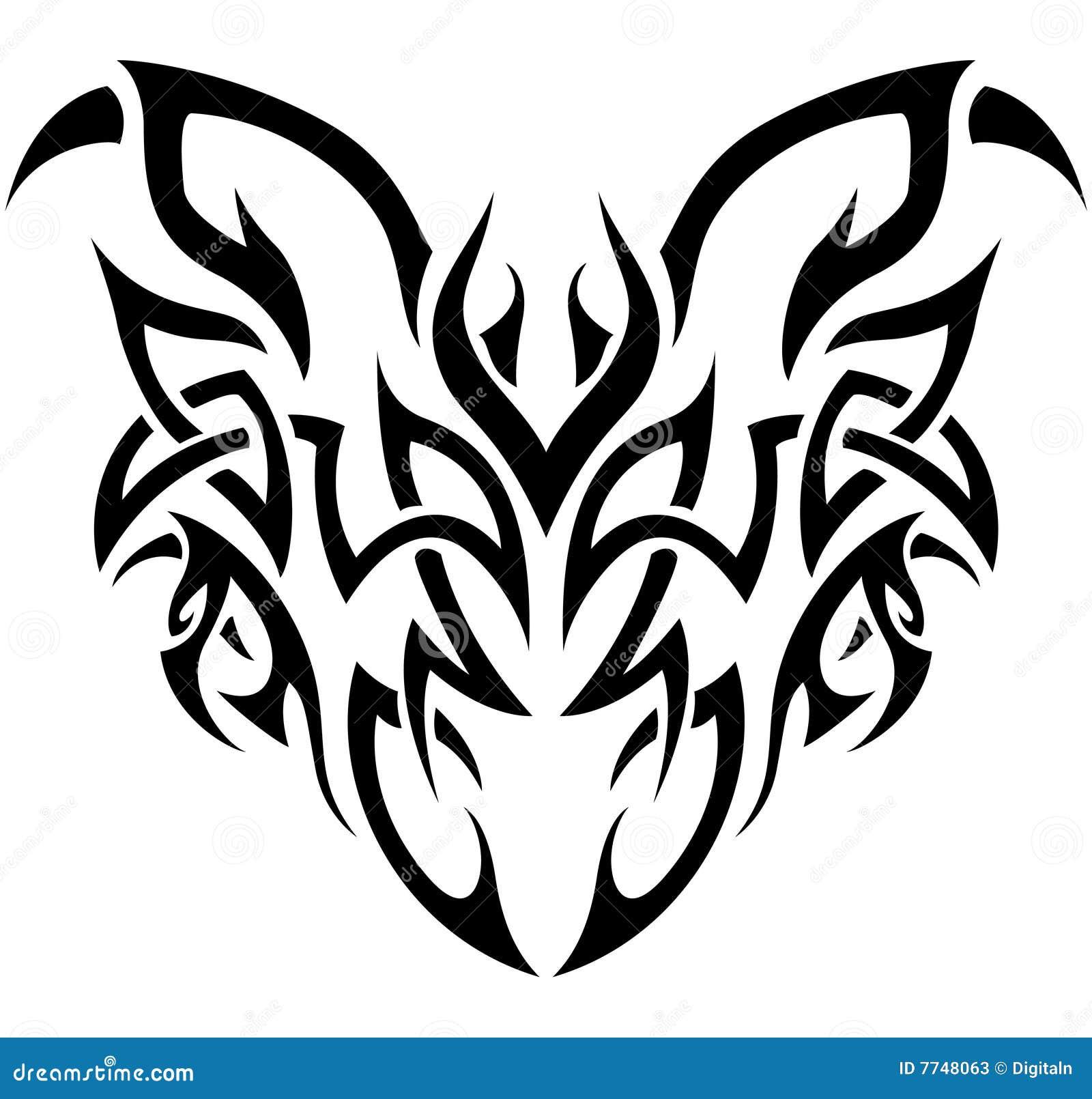 Demonio tribal en blanco y negro ilustraci n del vector for Aparador blanco y negro