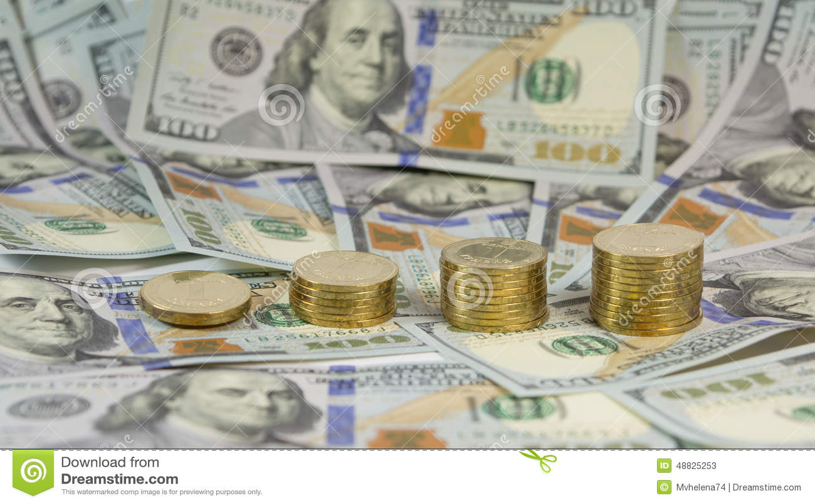 Demonstratie van de toenemende wisselkoers van Oekraïense munthryvnia (grivna, UAH) voor dollar de V.S. (USD)