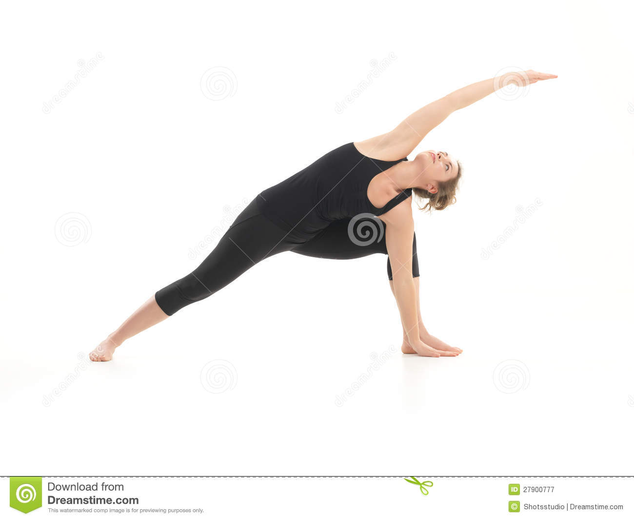 Demonstration Of Advanced Yoga Pose By Young Attractive ...