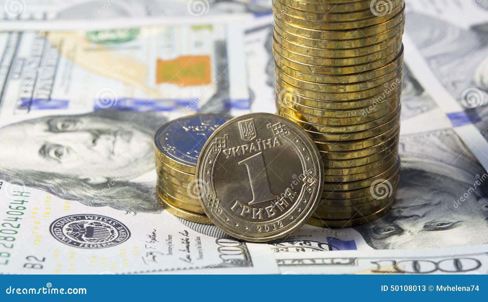 Demonstration av stigning valutakursen av den ukrainska valutagrivnaen (hryvniaen, UAH) för dollaren USA (USD)