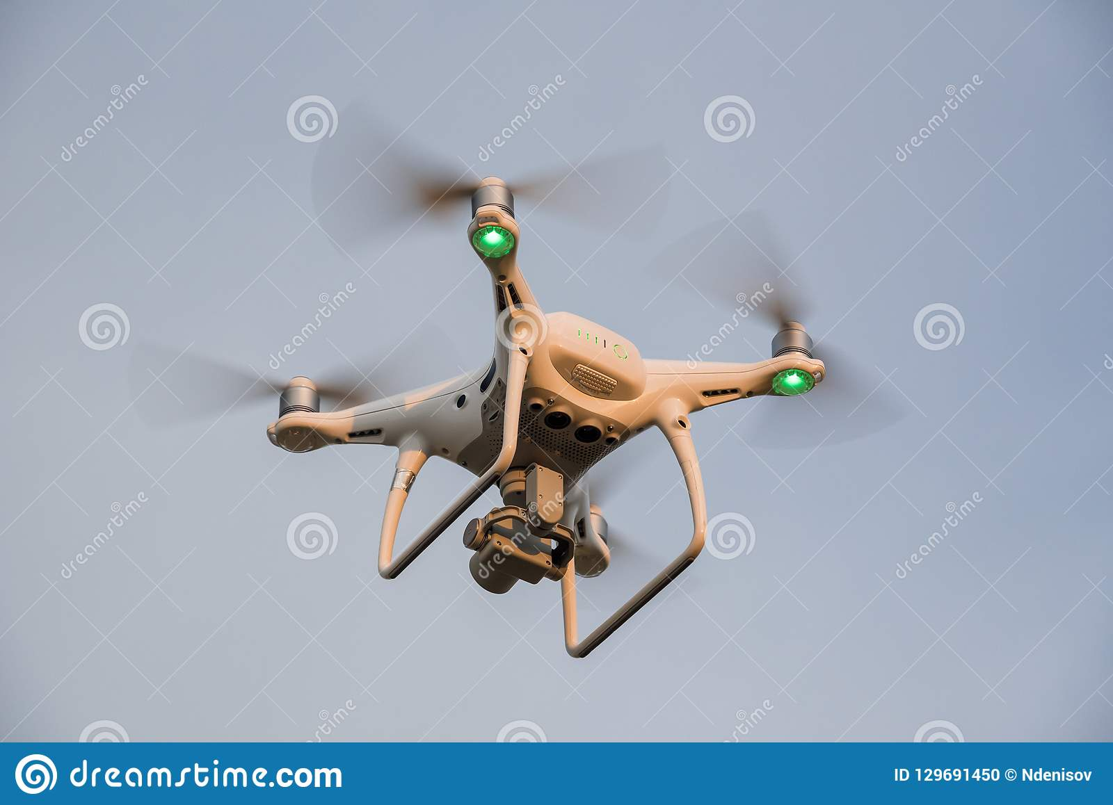 Demonstration Flight Drone DJI Phantom 4 Pro Stock Photo - Image of