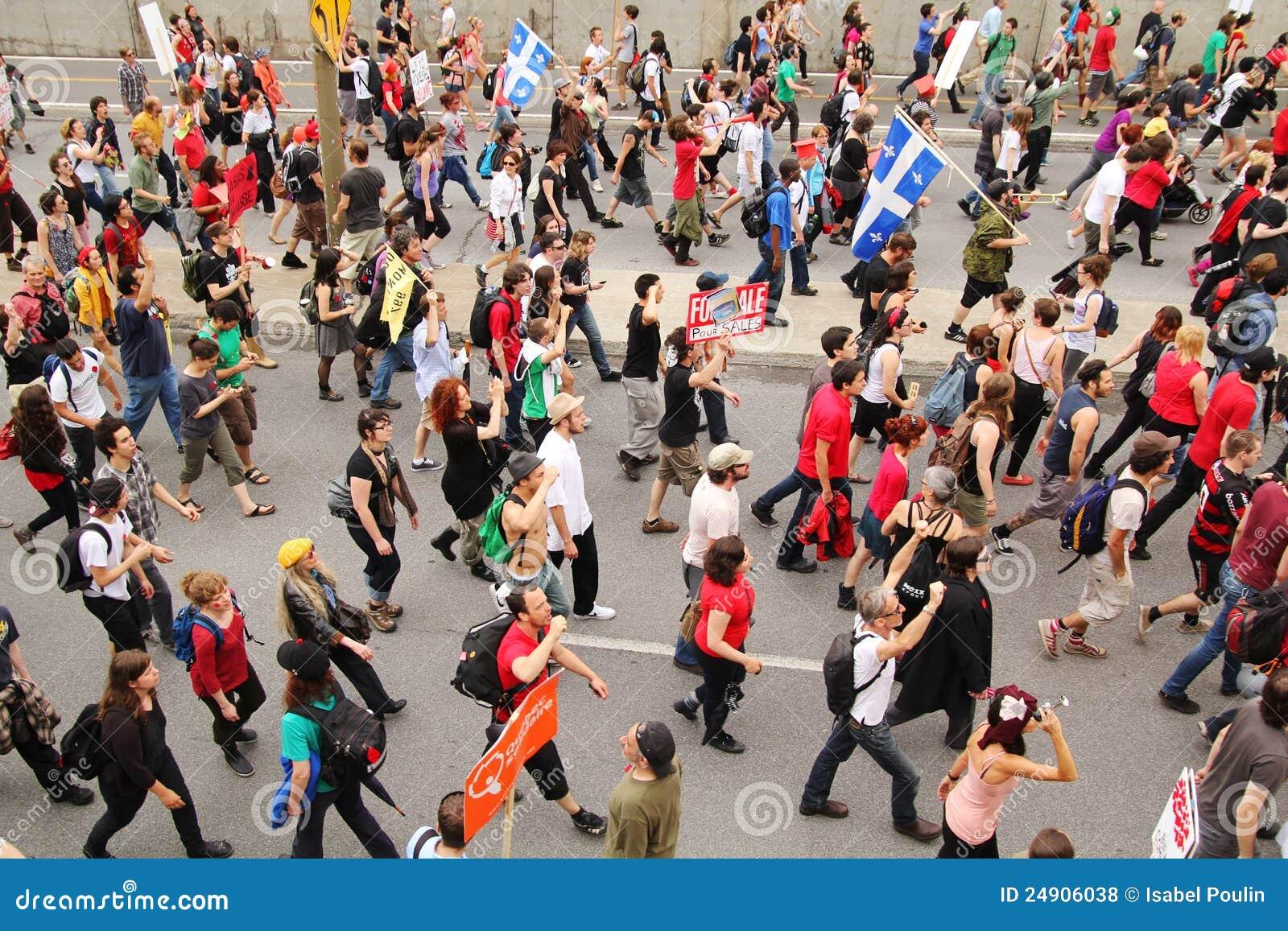 Demonstration in Montreal street