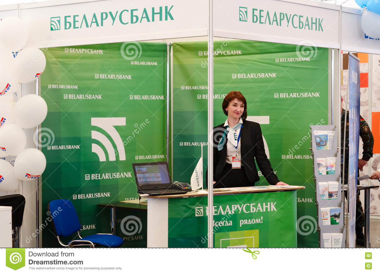 Expo Stand Bielorussia : Samsung exhibition stand of virtual reality u stock editorial