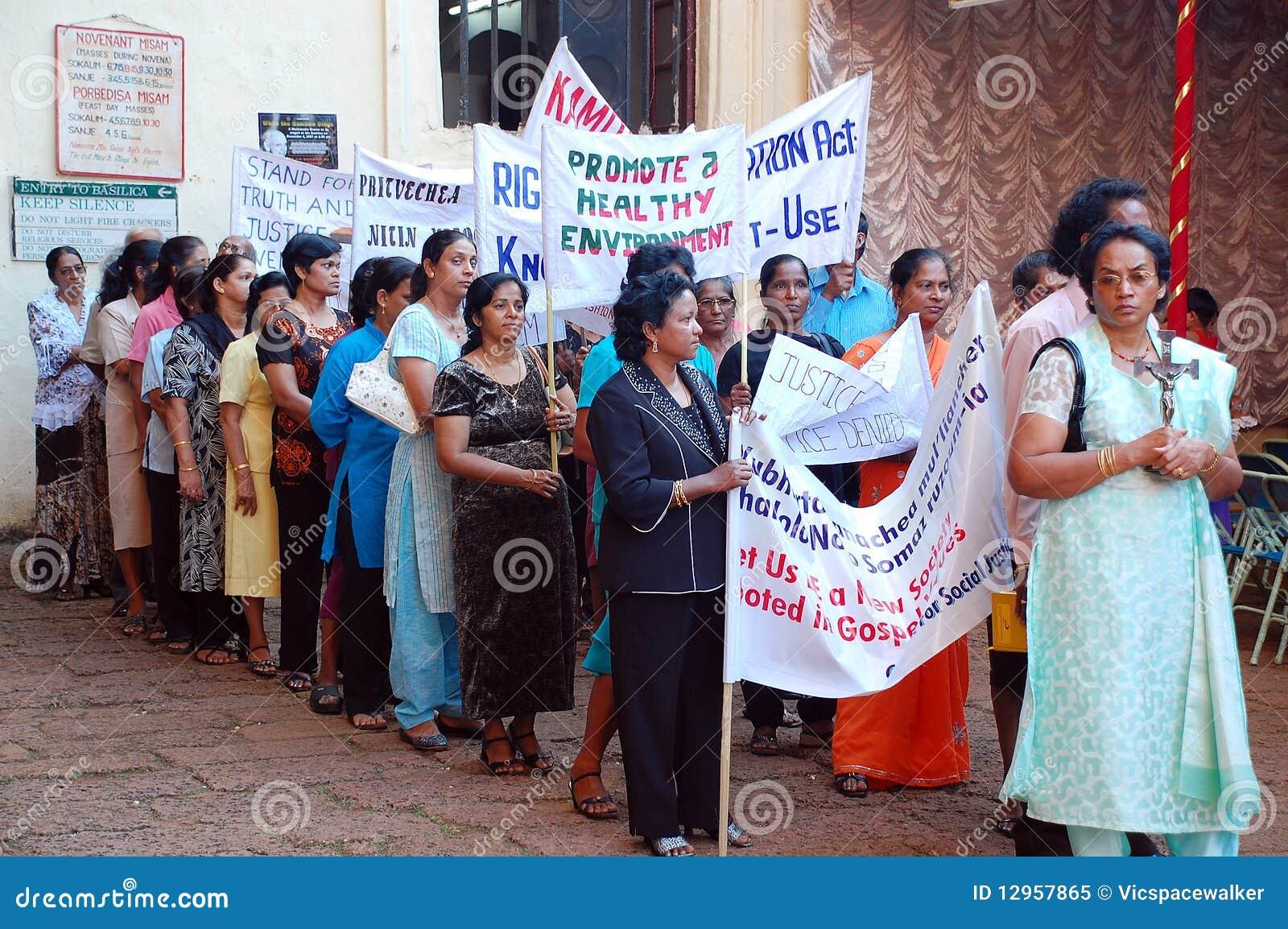 Demonstrationsindia s kvinnor
