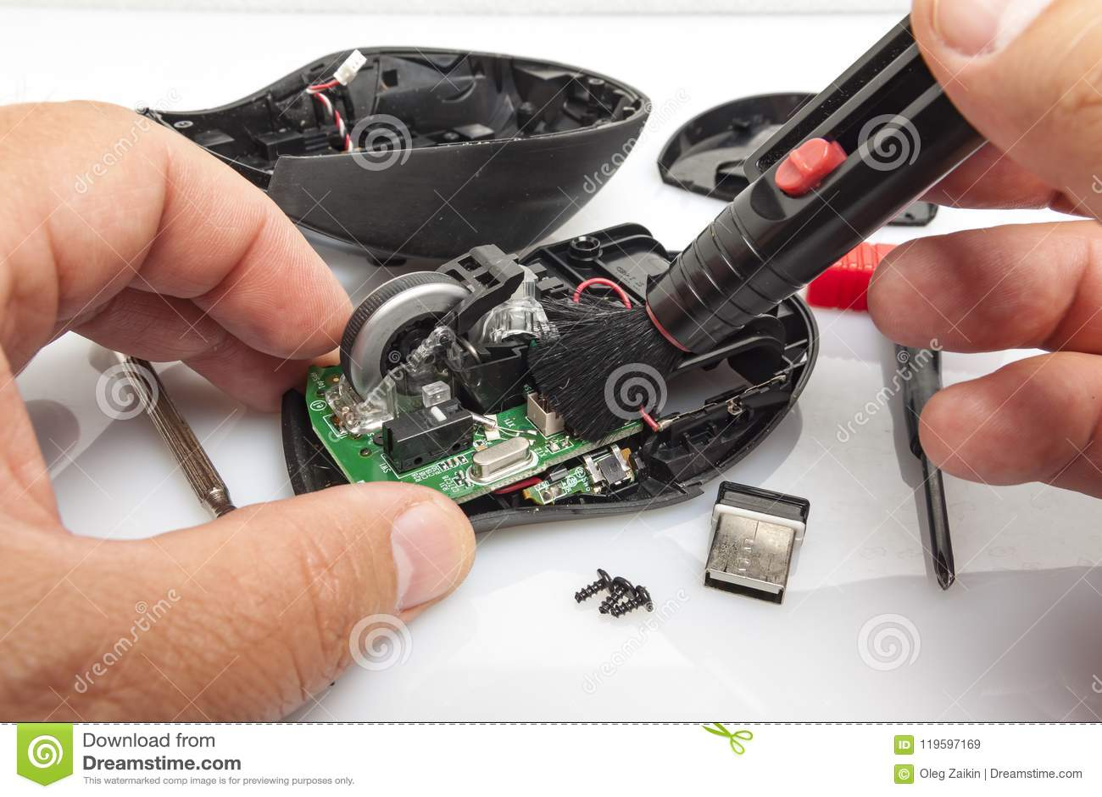 Demonterade datormusen