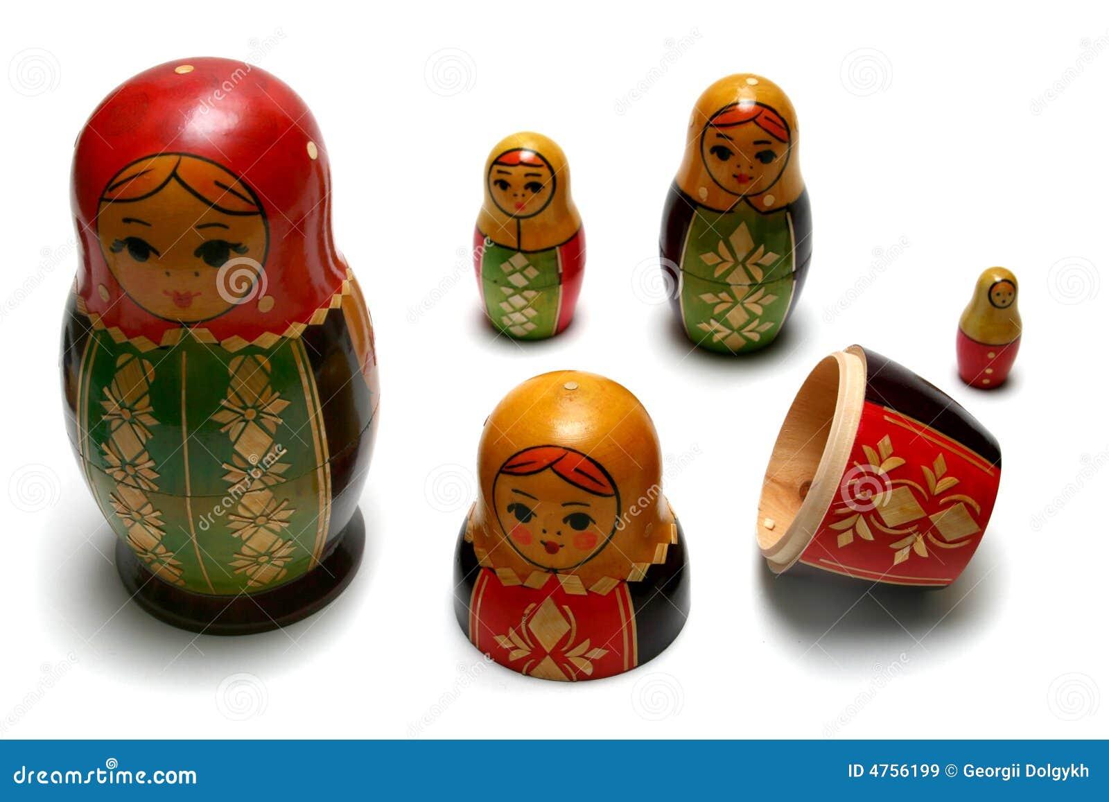 Demontować rosyjskiego matreshka zabawki
