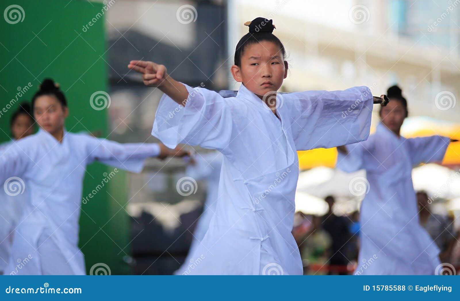 Demostración de artes marciales de Wudang