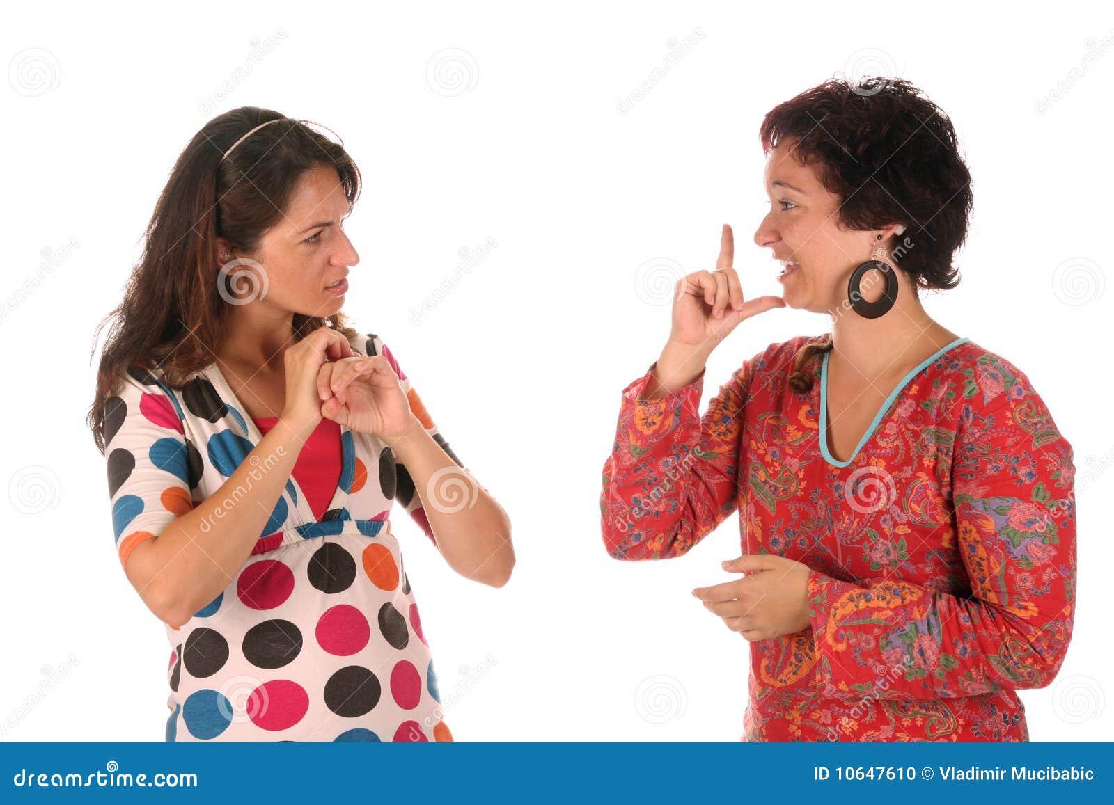 Demostración de la mano de las personas sordas