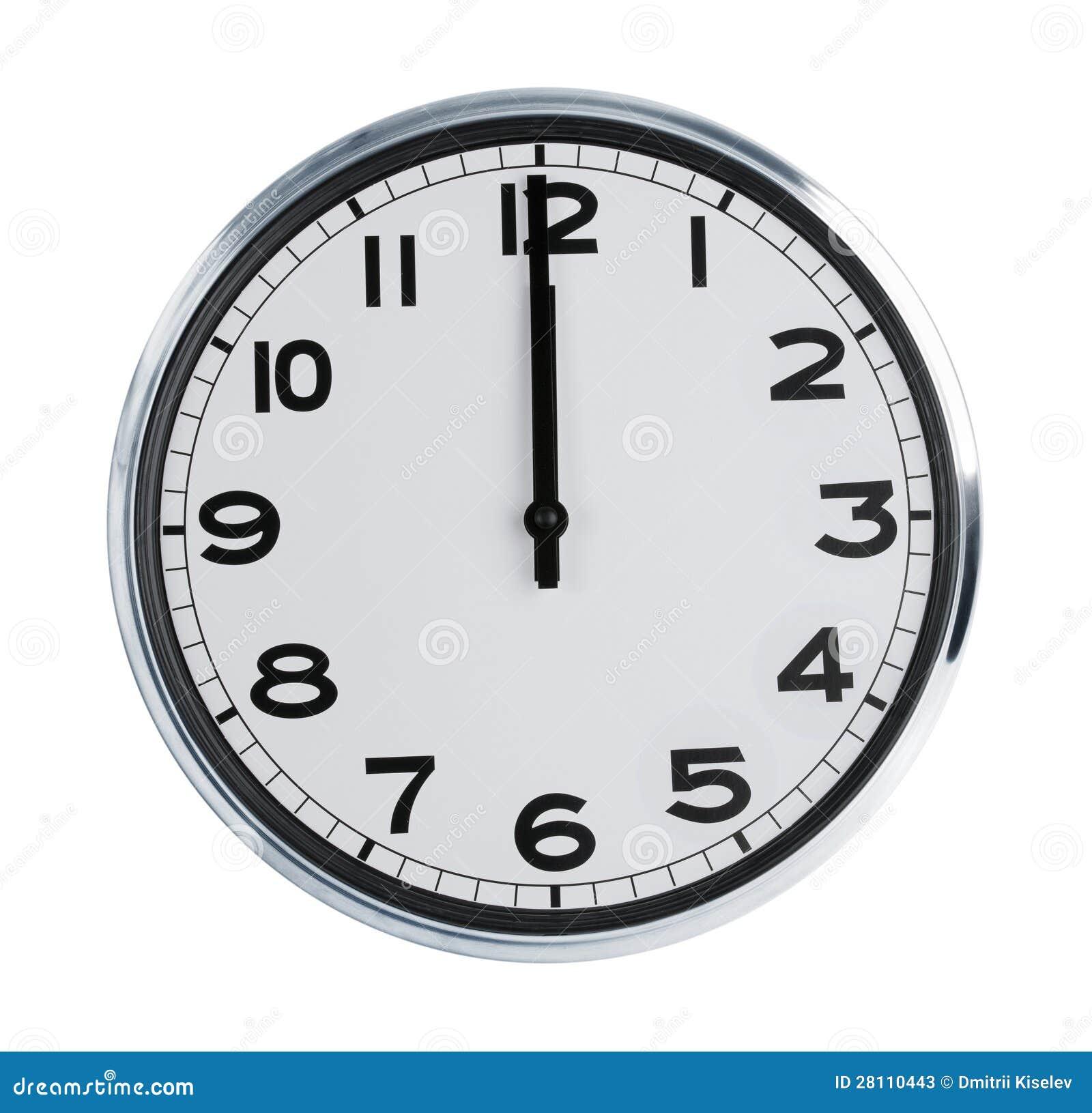 Demostraci n del reloj de pared los doce en punto fotos de - Reloj para pared ...