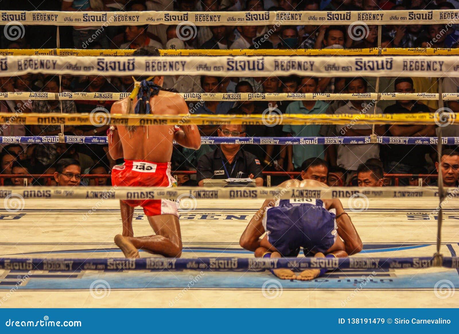 Den över hela världen berömda muay thai stridigheten, Thailand
