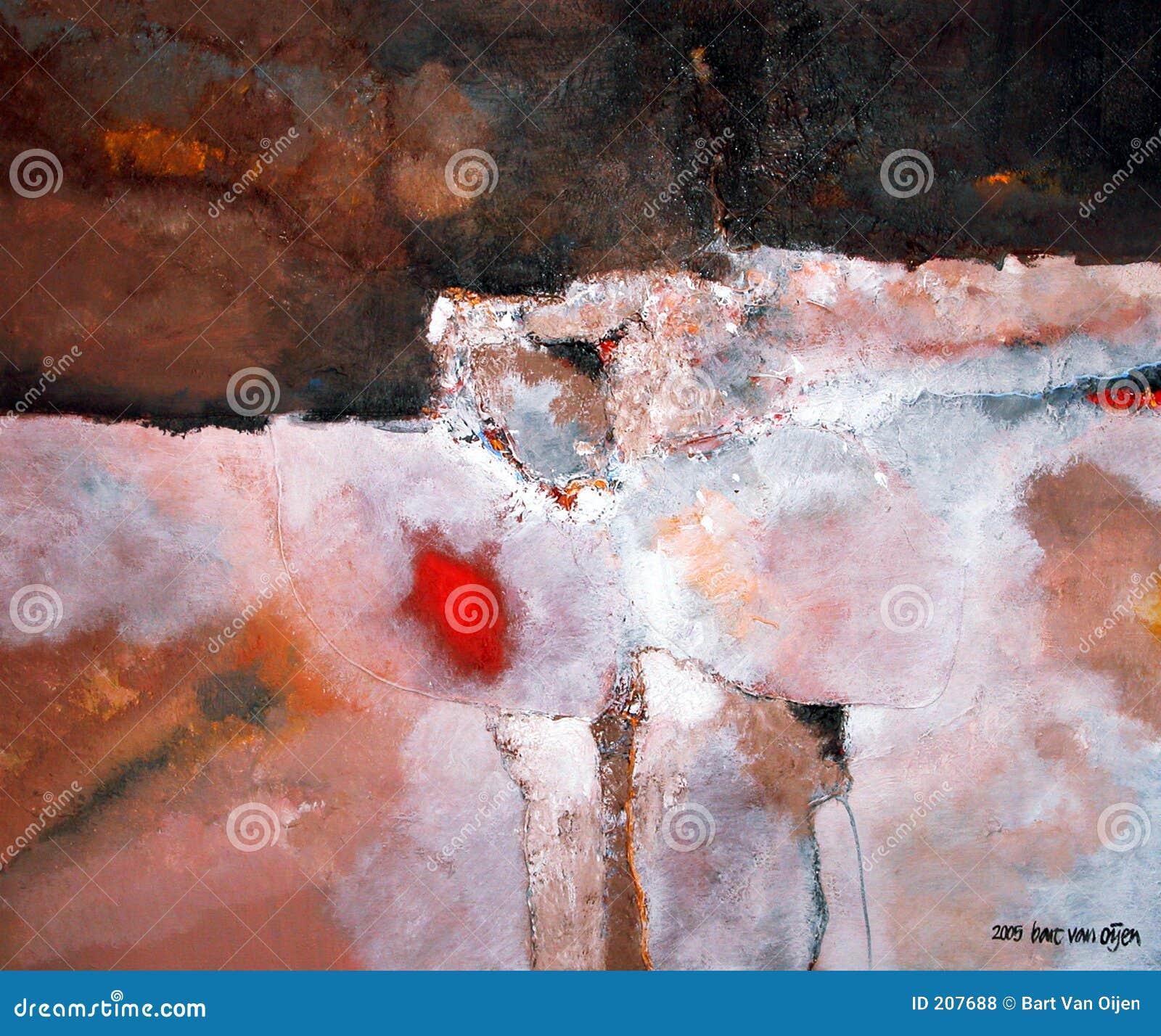 Den abstrakt barten oijen målningsskåpbilen