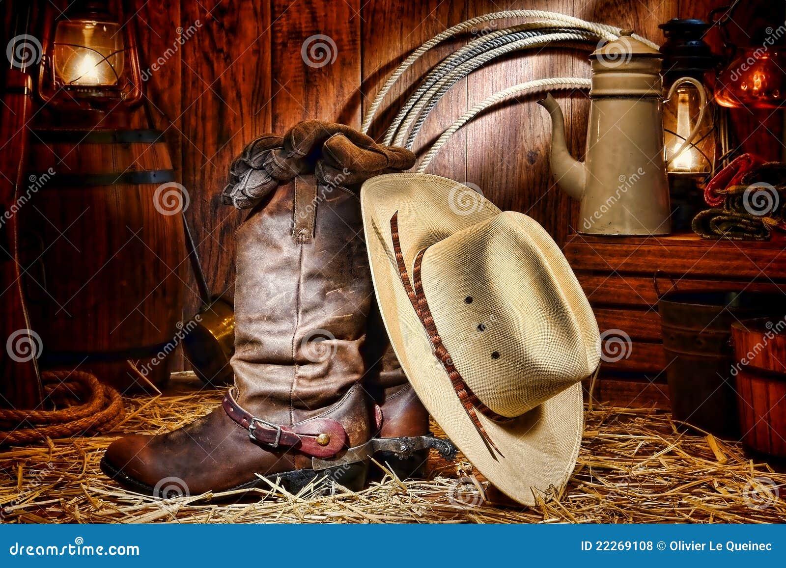 Den amerikanska ladugården startar den västra rodeoen för cowboyhatten