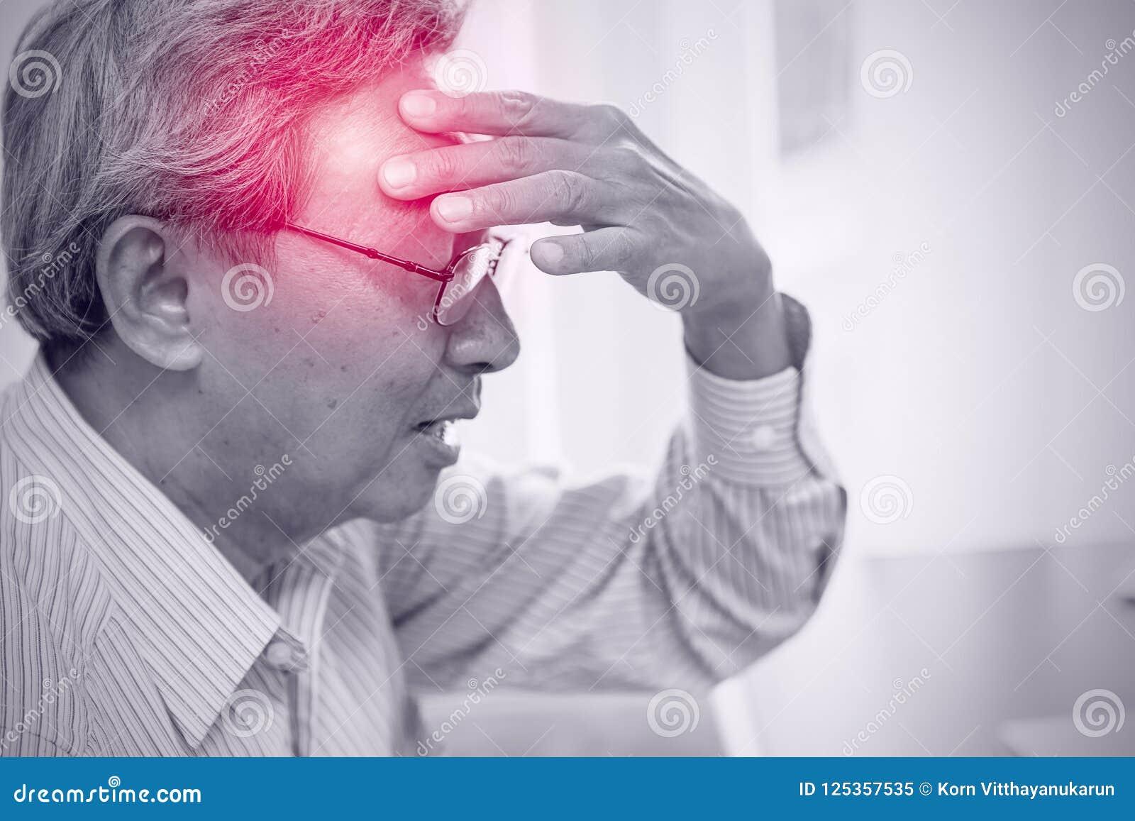 Den asiatiska fläderna smärtar från huvudvärkspänningsfara av slaglängden