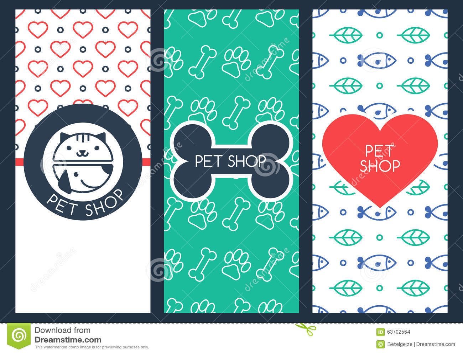 Den bakgrunds-, reklamblad- eller banermallen för älsklings- shoppar eller veterinär-