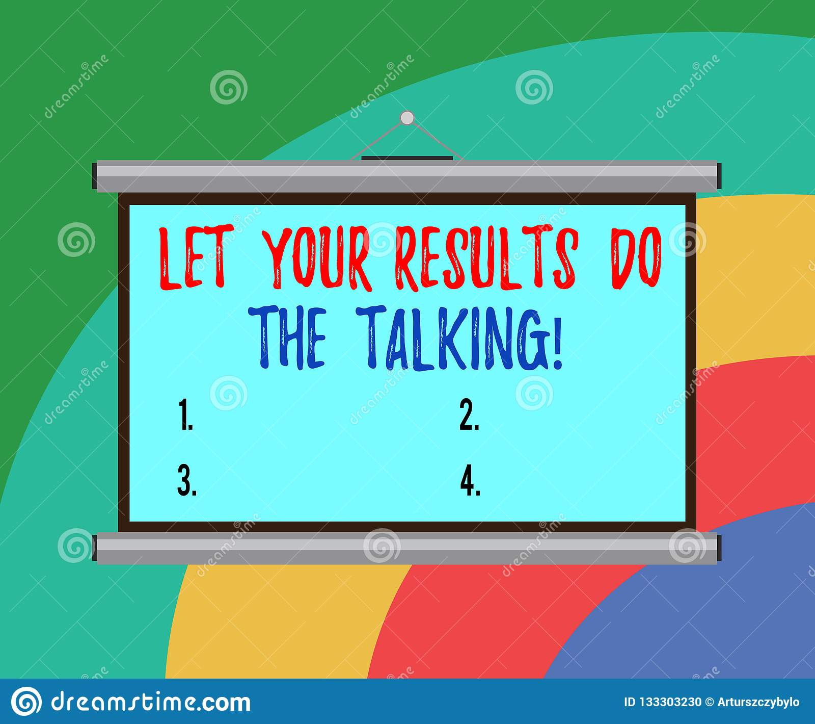 Den begreppsmässiga handhandstilvisningen lät dina resultat gör samtalet Affärsfototext minus samtal av mer gjord saker