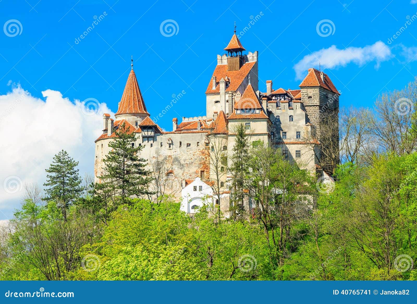 Den berömda Dracula slotten, kli, Transylvania, Rumänien