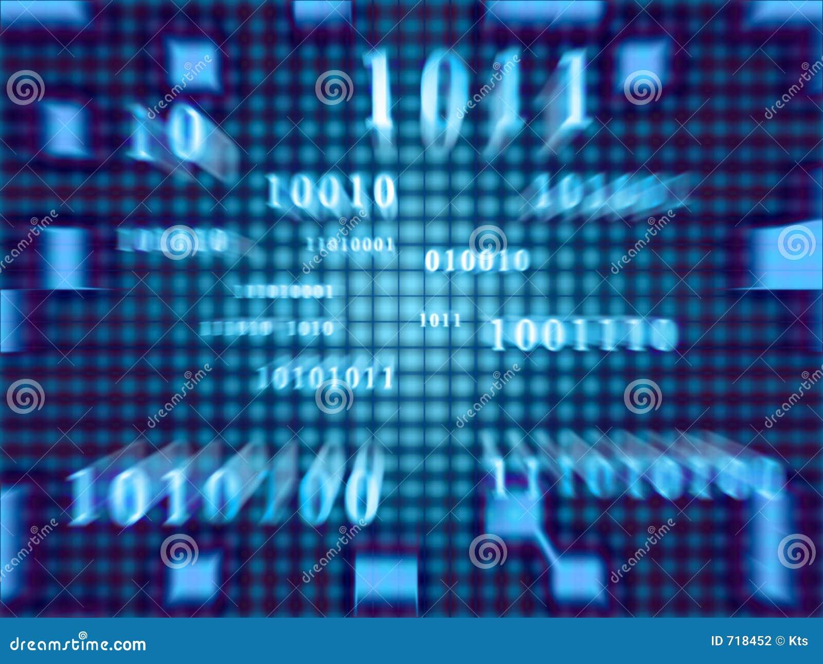 Den binära koden fast zoomen