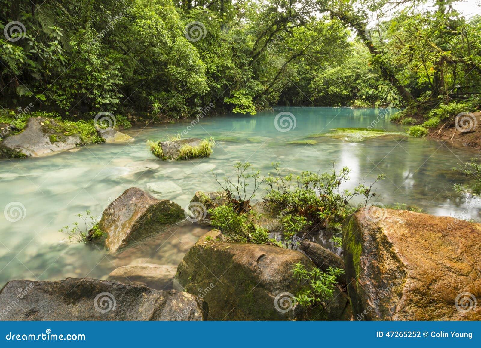 Den blåa lagun och apelsinen vaggar