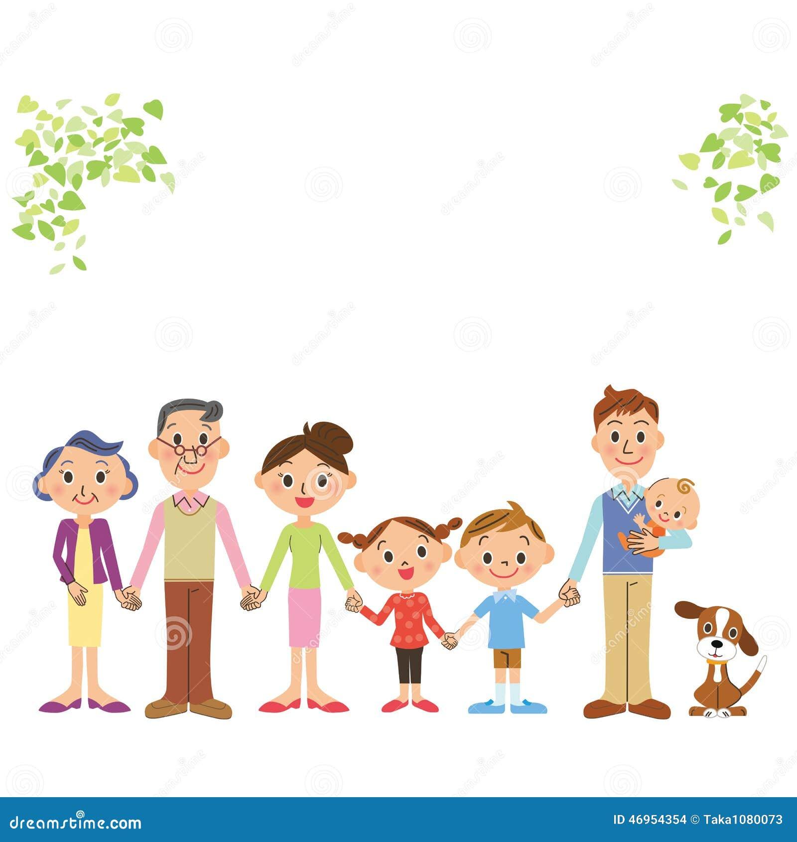 Den bra väntre-utveckling familjen som binder en hand