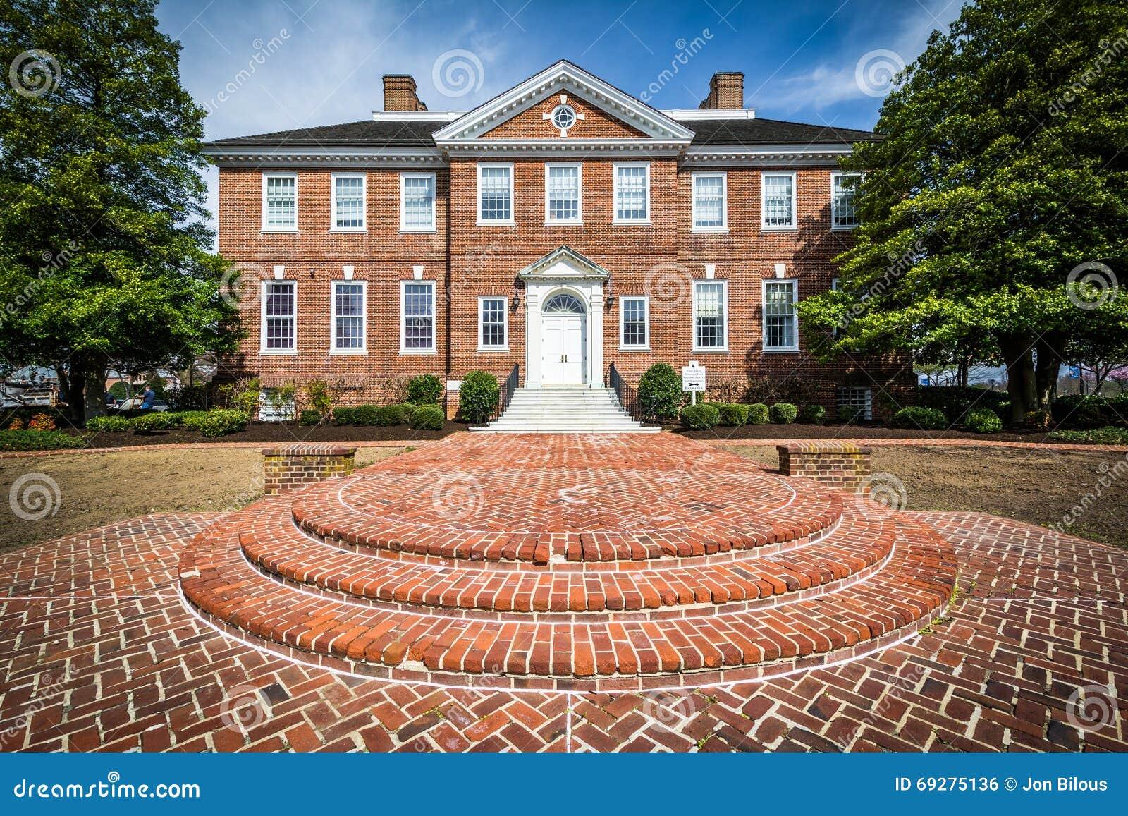 Den Delaware allmänheten arkiverar byggnad i Dover, Delaware