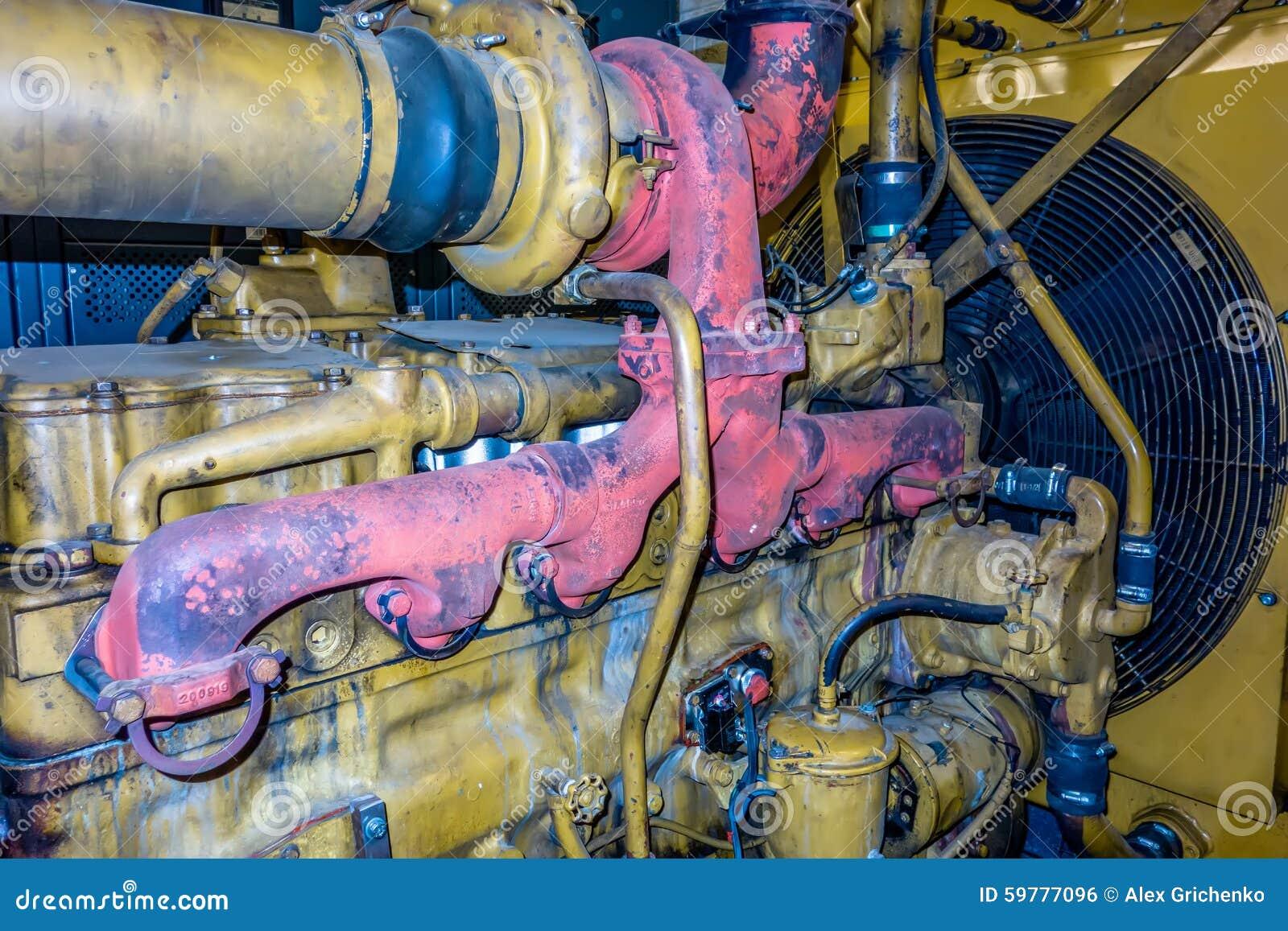 Den diesel- generatorenheten har enheten monterad element- och bränslefilte