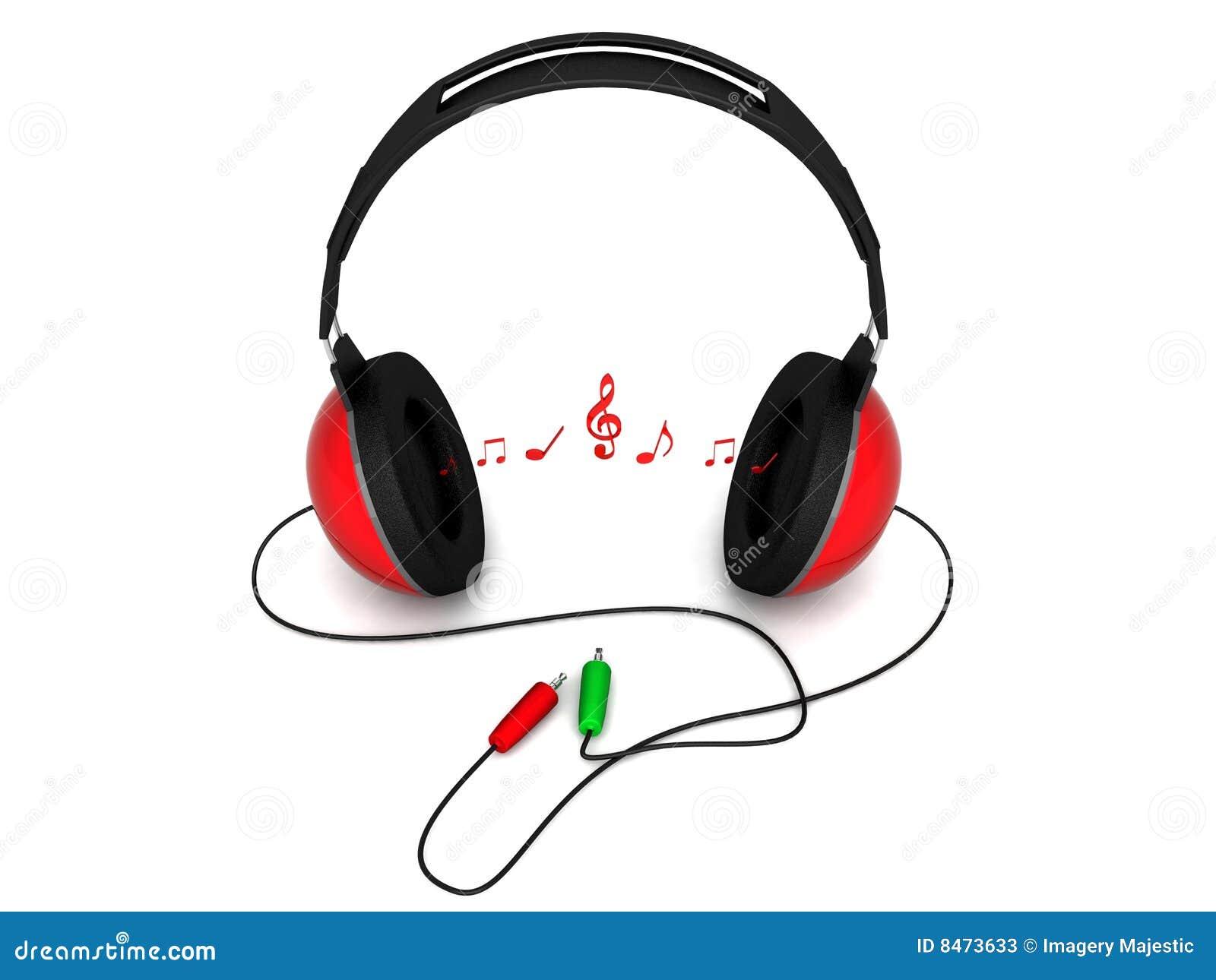 Den dimensionella headphonen bemärker sikt tre