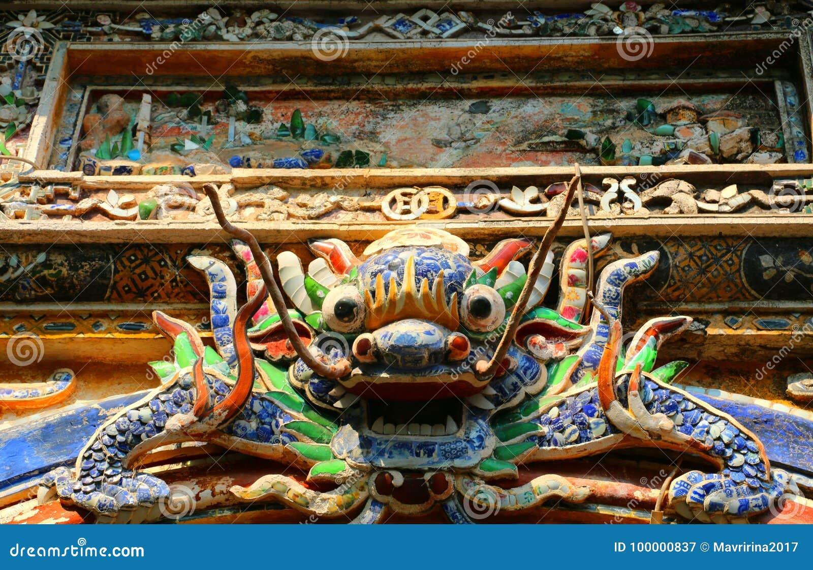 Den Dragon East Bastion porten av det imperialistiska Forbiddenet City, ton,