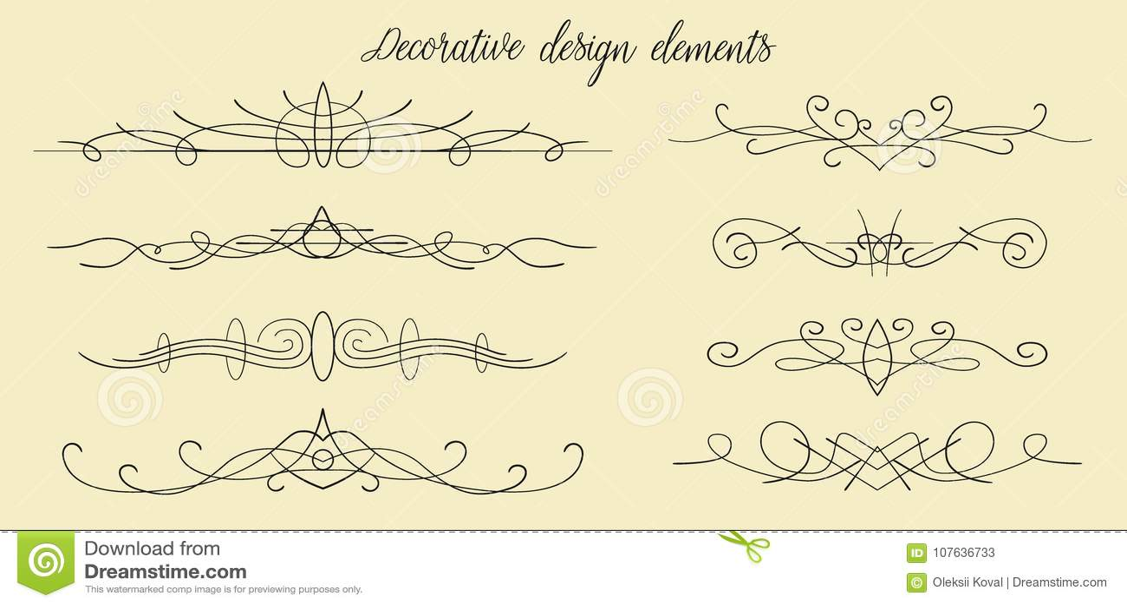 Den drog vektorhanden frodas, avdelare, den grafiska älskvärda designen el