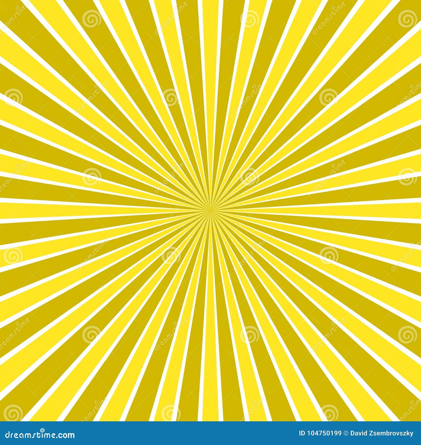 Den dynamiska abstrakta solen rays bakgrund - komisk vektordesign från radiell bandmodell