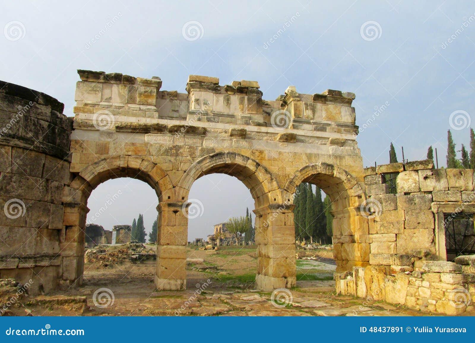 Den forntida antikviteten fördärvar av Hierapolis