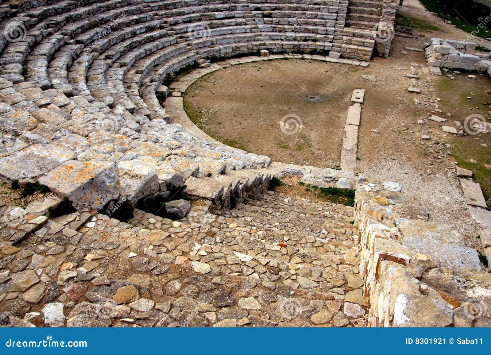Den forntida greken fördärvar den sicily teatern