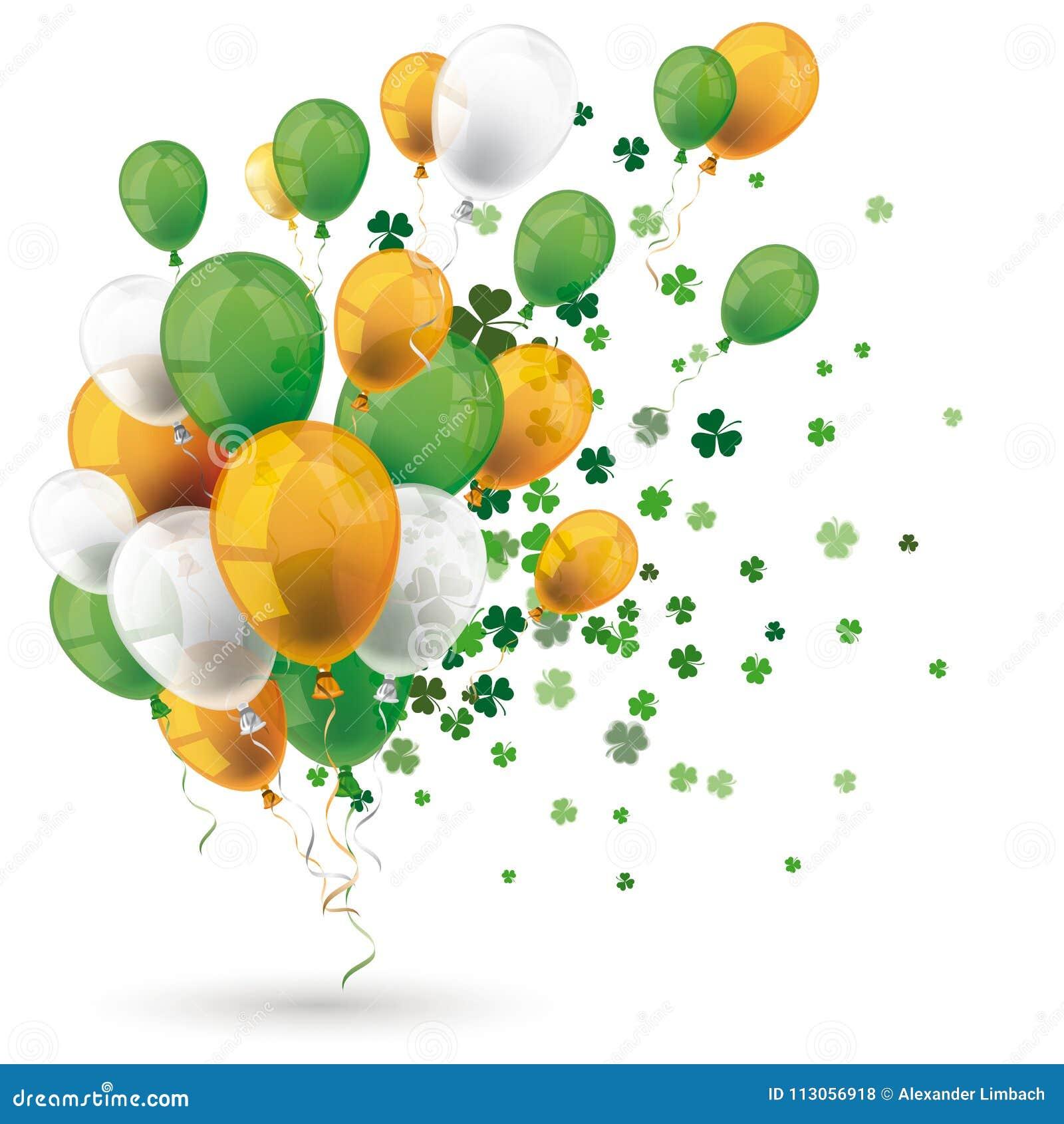 Den gröna apelsinen sväller treklöverer för irländareSt Patricks