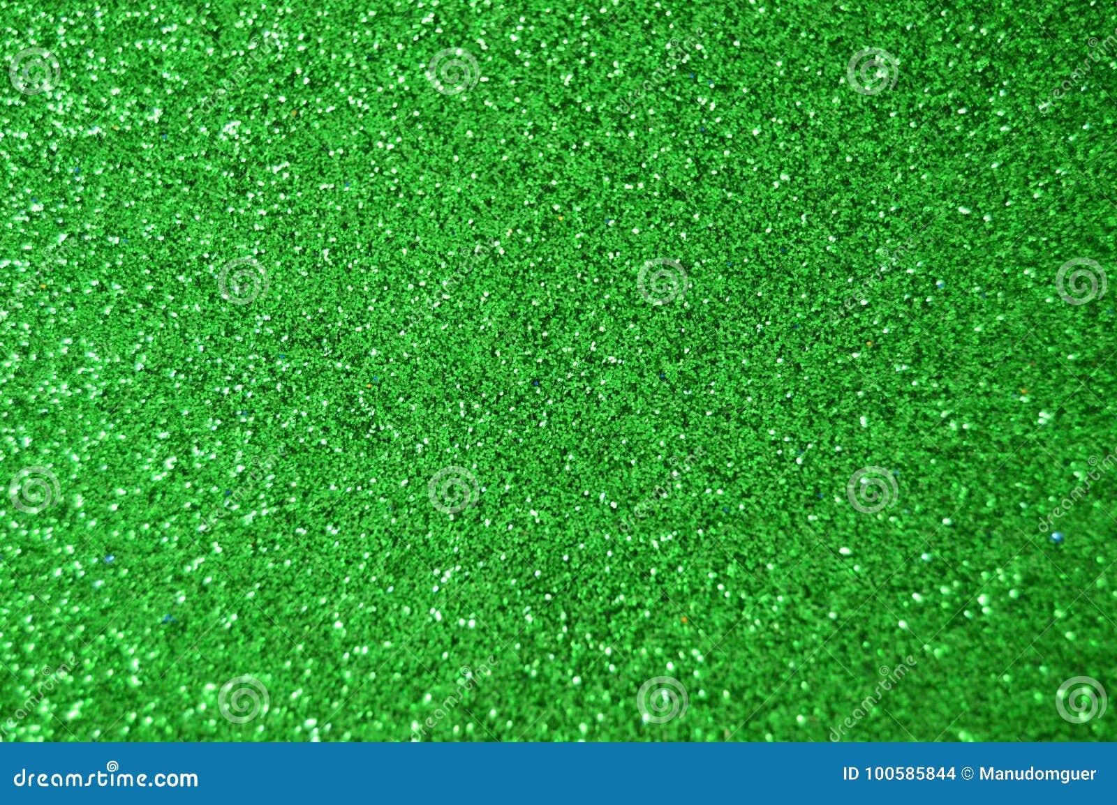 Den gröna gnistrandet blänker bakgrund Ferie jul, valentin, skönhet och spikar abstrakt textur