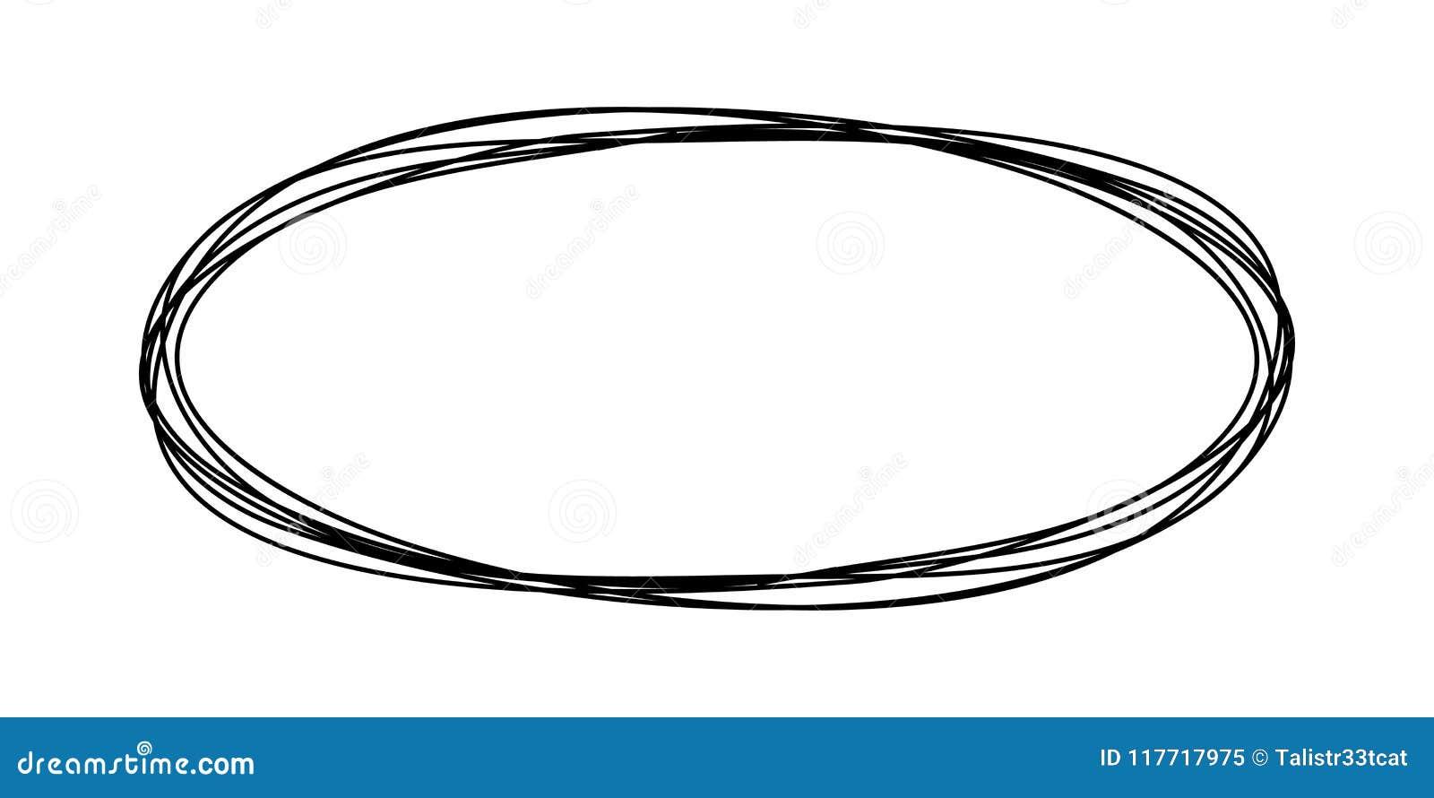 Den Grungy rundan klottrar oval